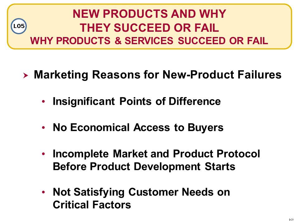 Marketing Reasons for New-Product Failures