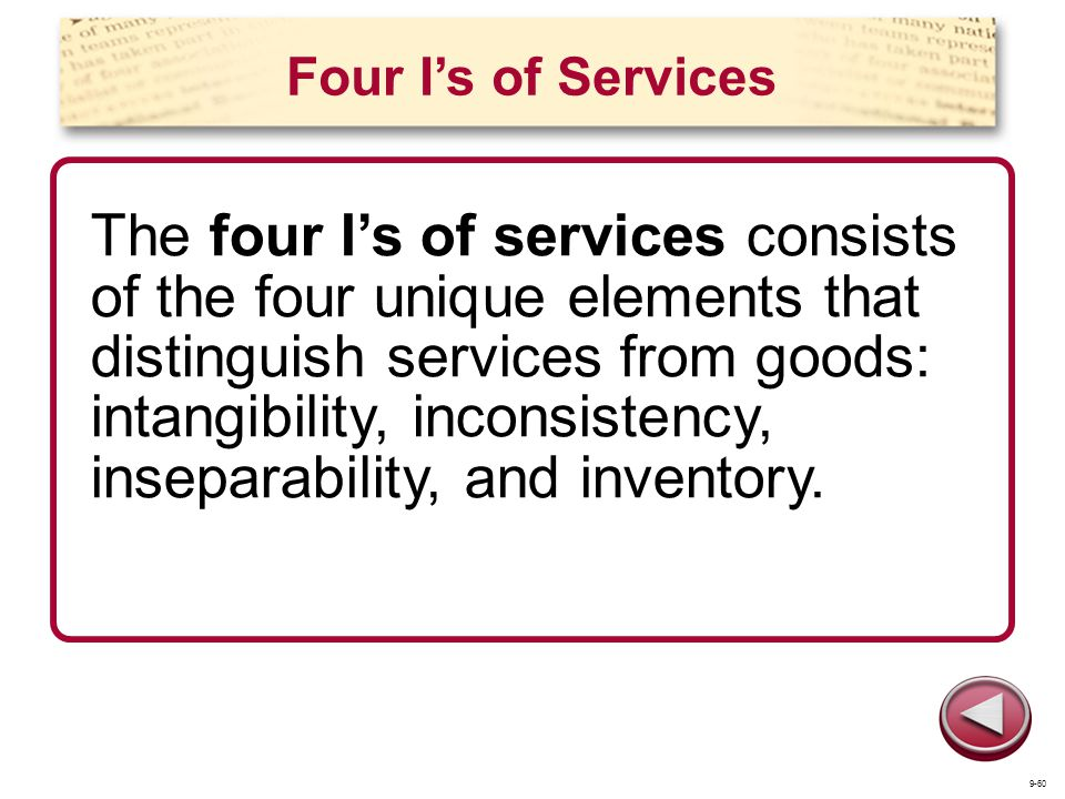 Four I's of Services