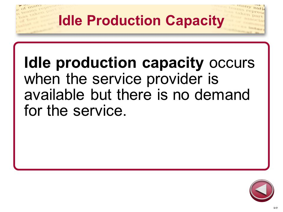 Idle Production Capacity
