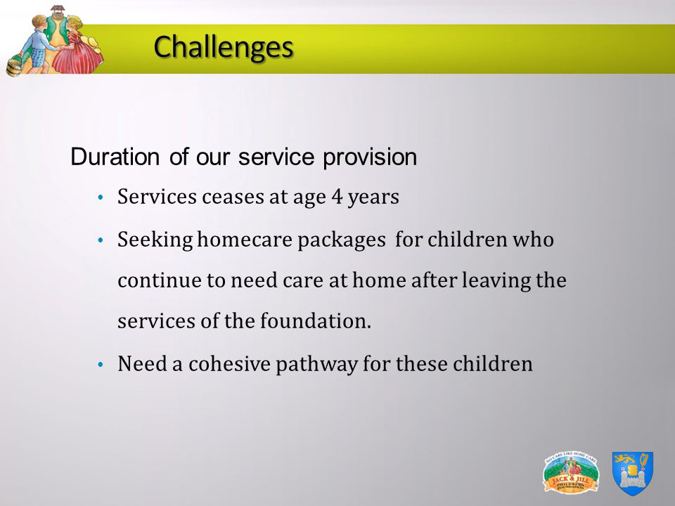 Challenges Duration of our service provision