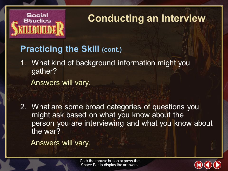 Conducting an Interview