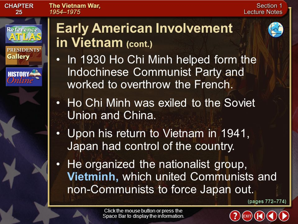 Early American Involvement in Vietnam (cont.)