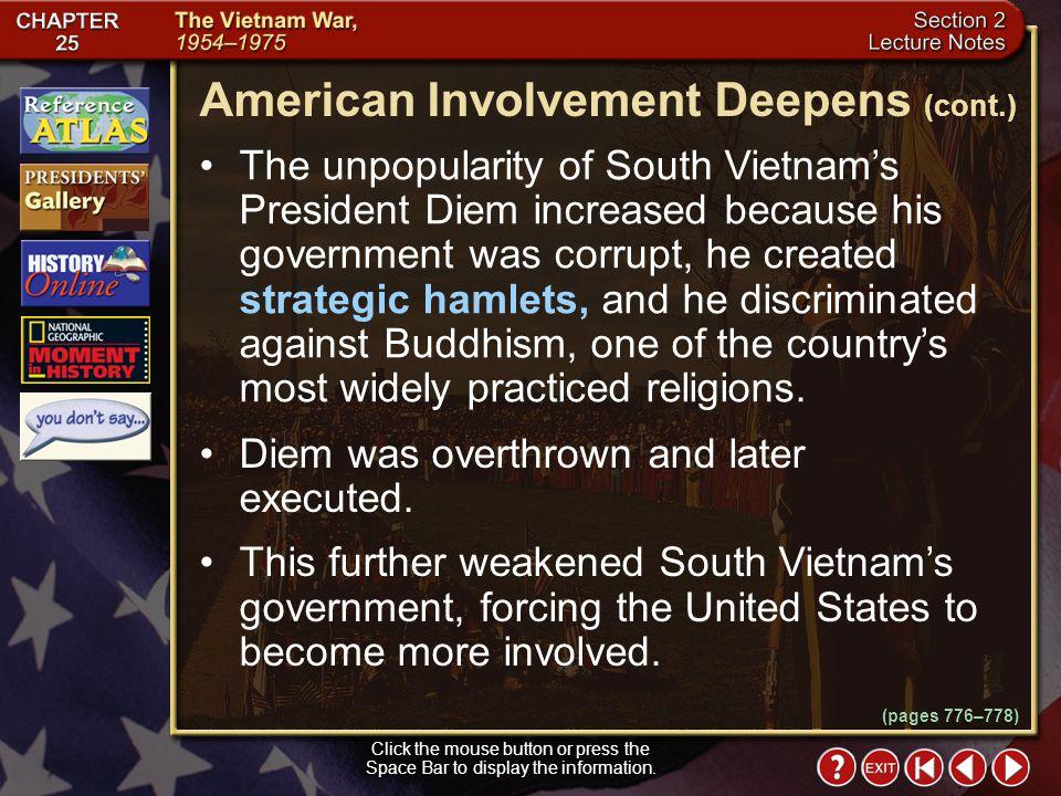 American Involvement Deepens (cont.)