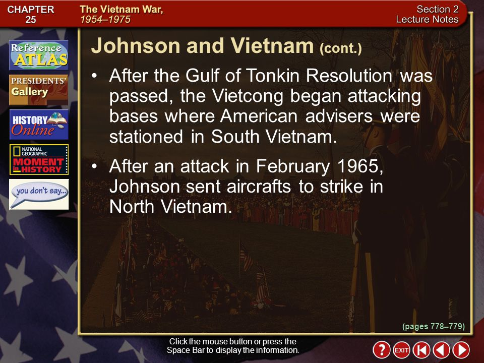Johnson and Vietnam (cont.)