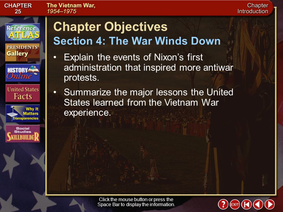 Chapter Objectives Section 4: The War Winds Down