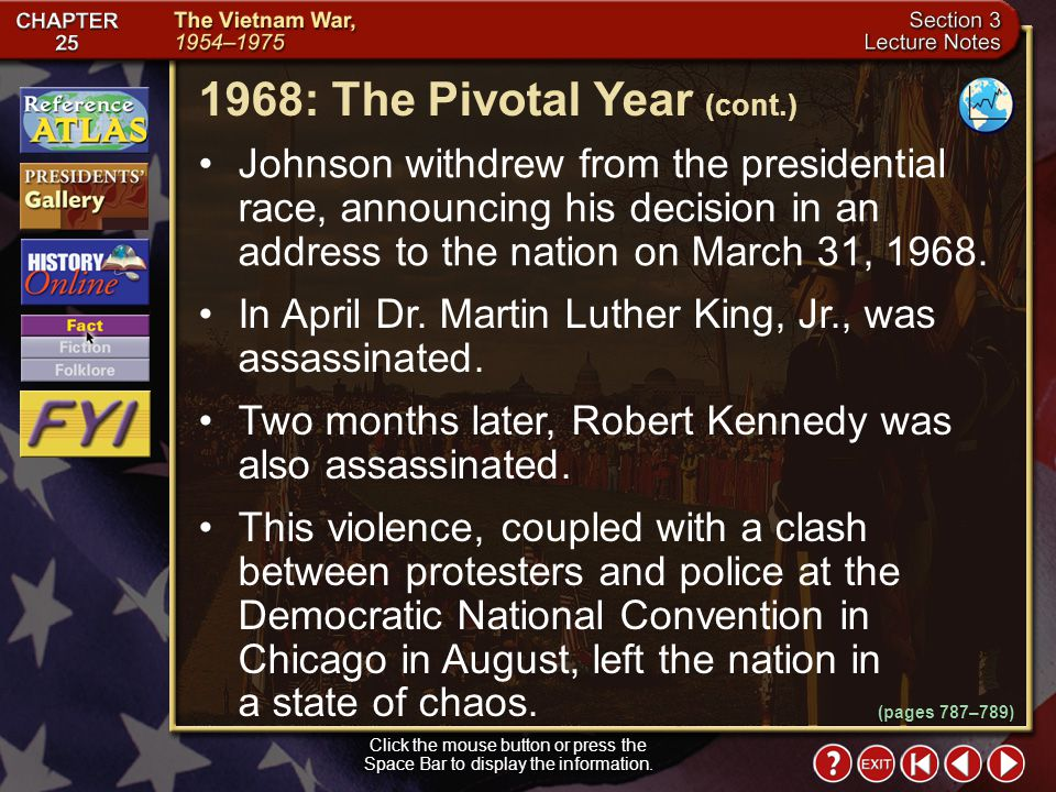 1968: The Pivotal Year (cont.)
