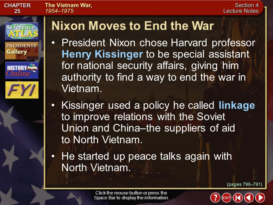 Nixon Moves to End the War