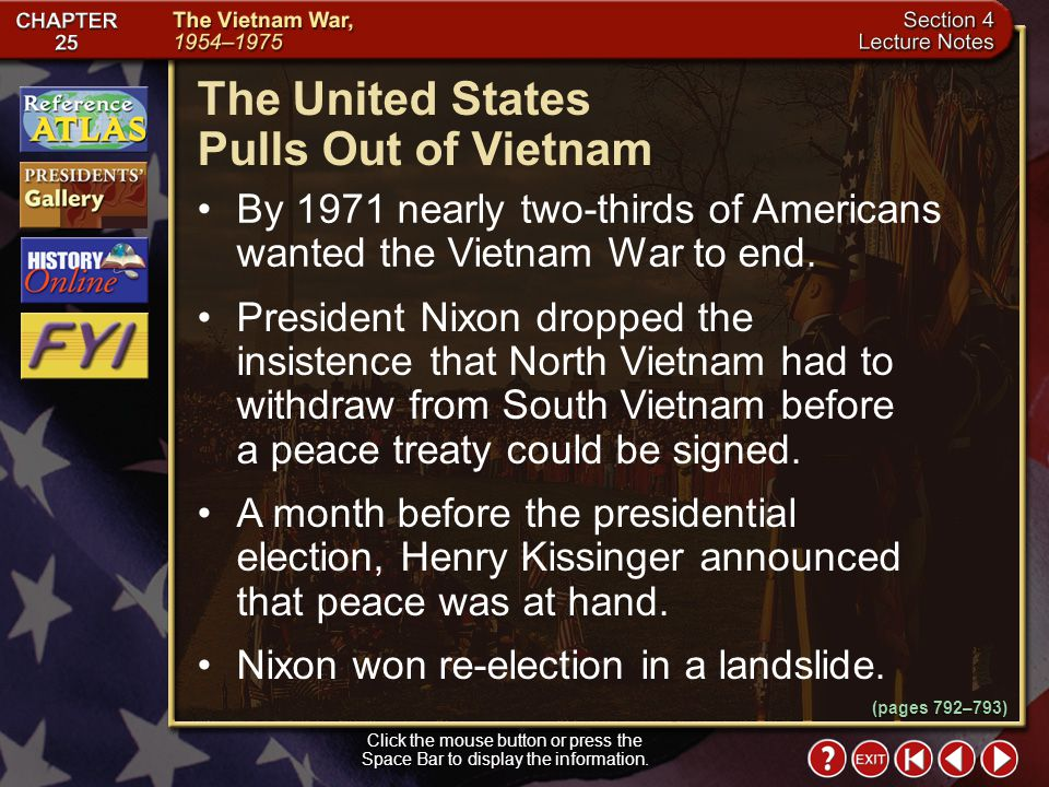 The United States Pulls Out of Vietnam