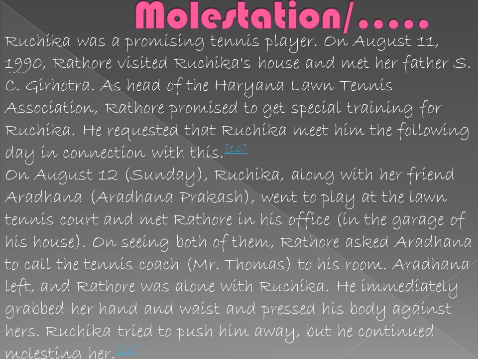 Molestation/…..