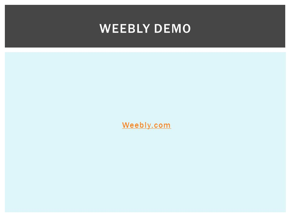 Weebly Demo Weebly.com
