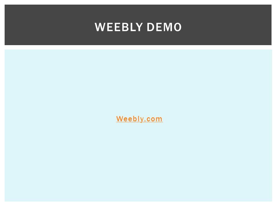 Weebly Demo Weebly.com