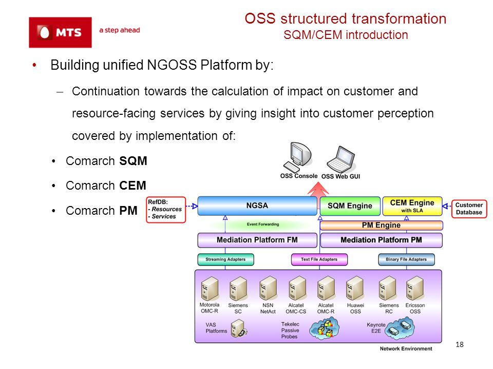 OSS structured transformation SQM/CEM introduction