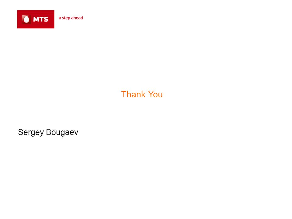 Thank You Sergey Bougaev