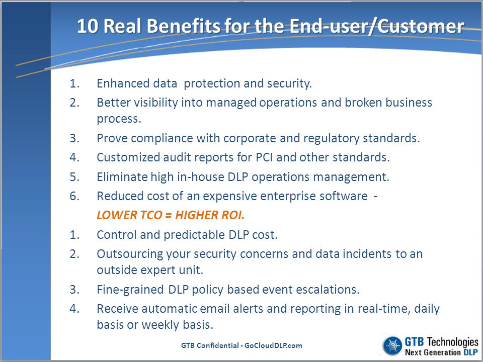 10 Real Benefits for the End-user/Customer