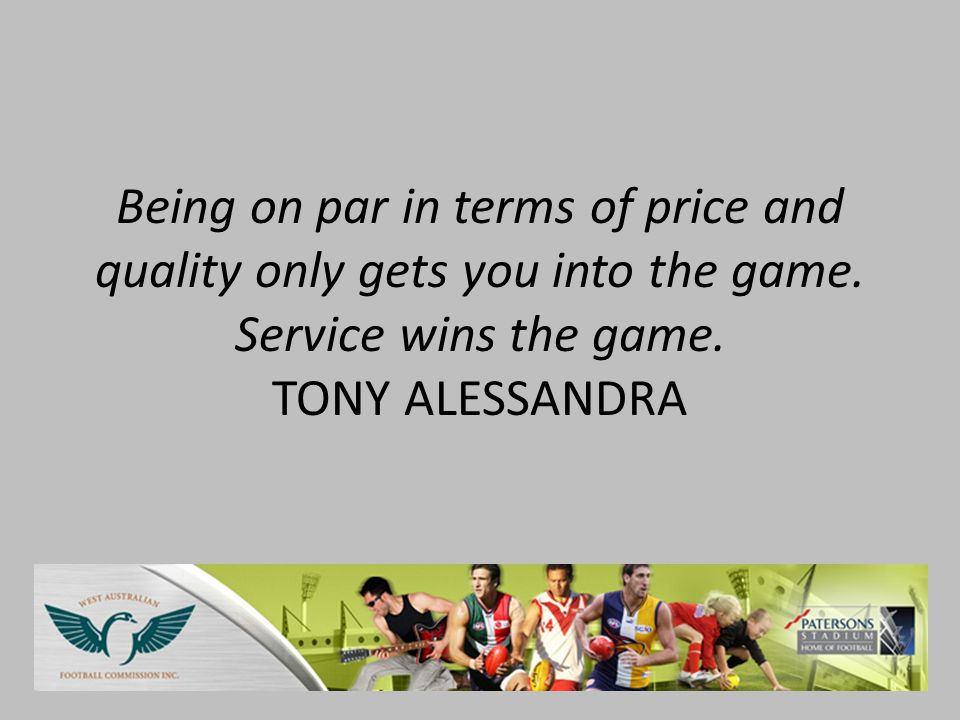 Being on par in terms of price and quality only gets you into the game