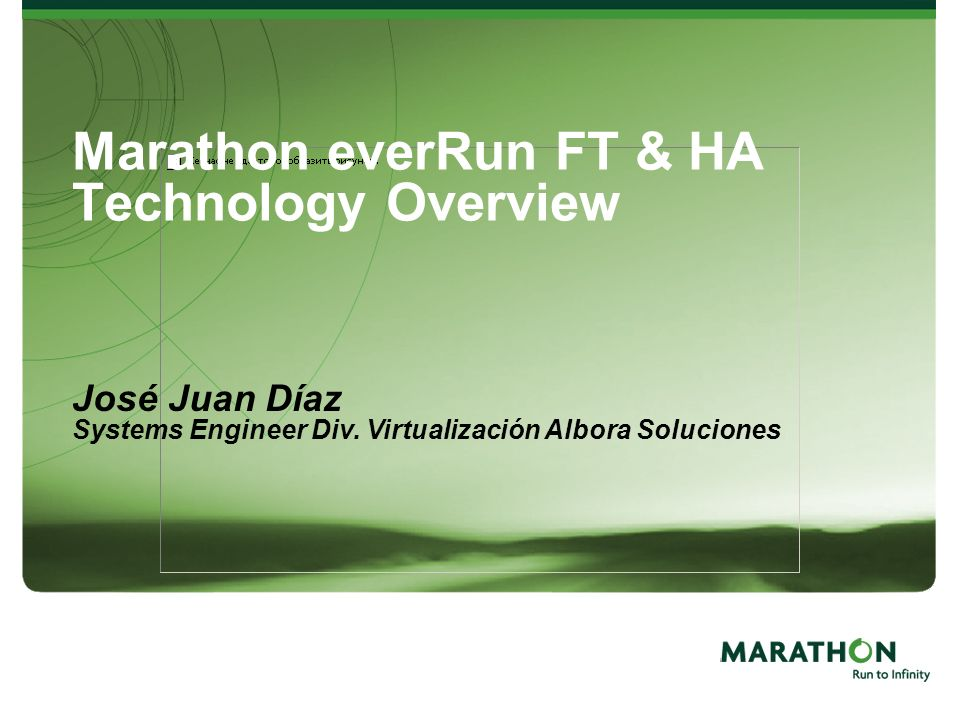 Marathon everRun FT & HA Technology Overview