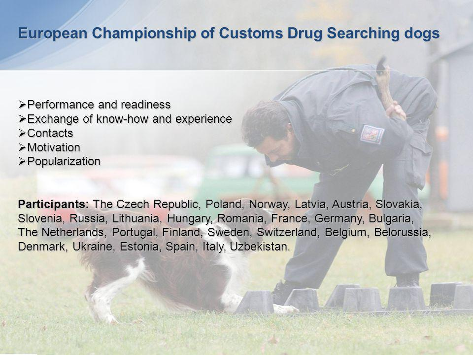 European Championship of Customs Drug Searching dogs