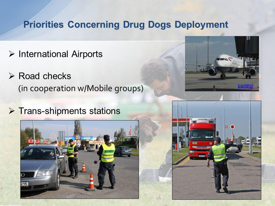 Priorities Concerning Drug Dogs Deployment