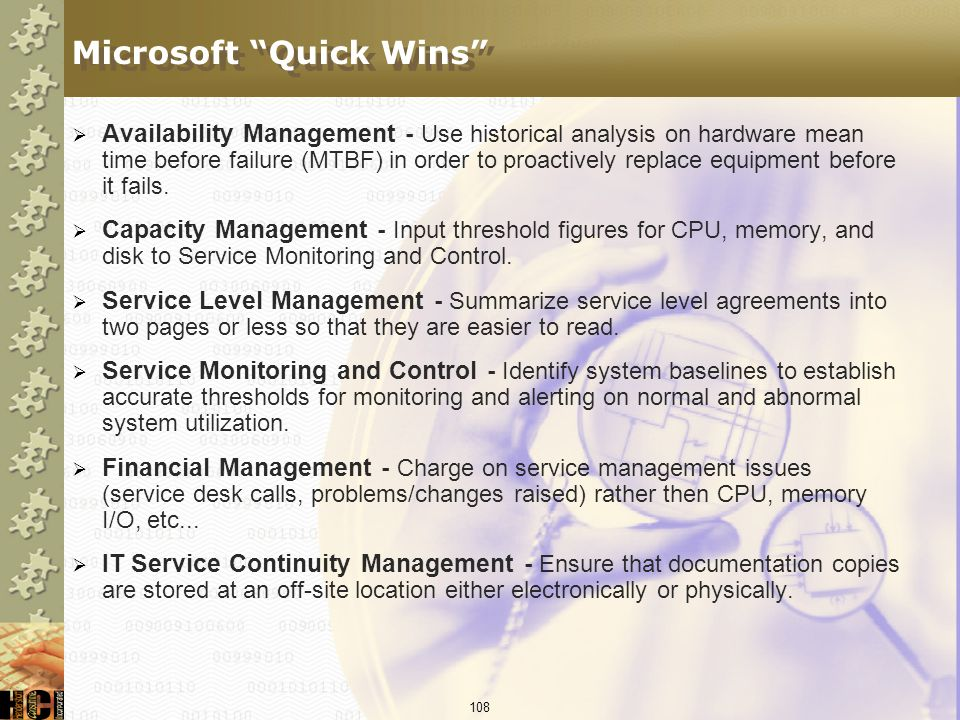 Microsoft Quick Wins