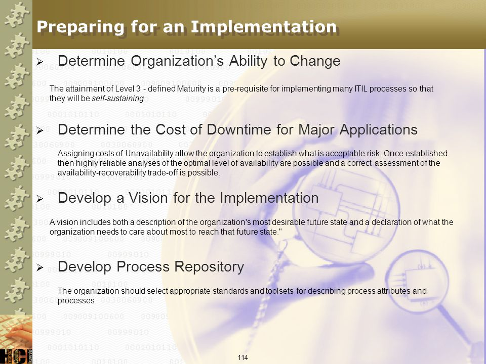 Preparing for an Implementation