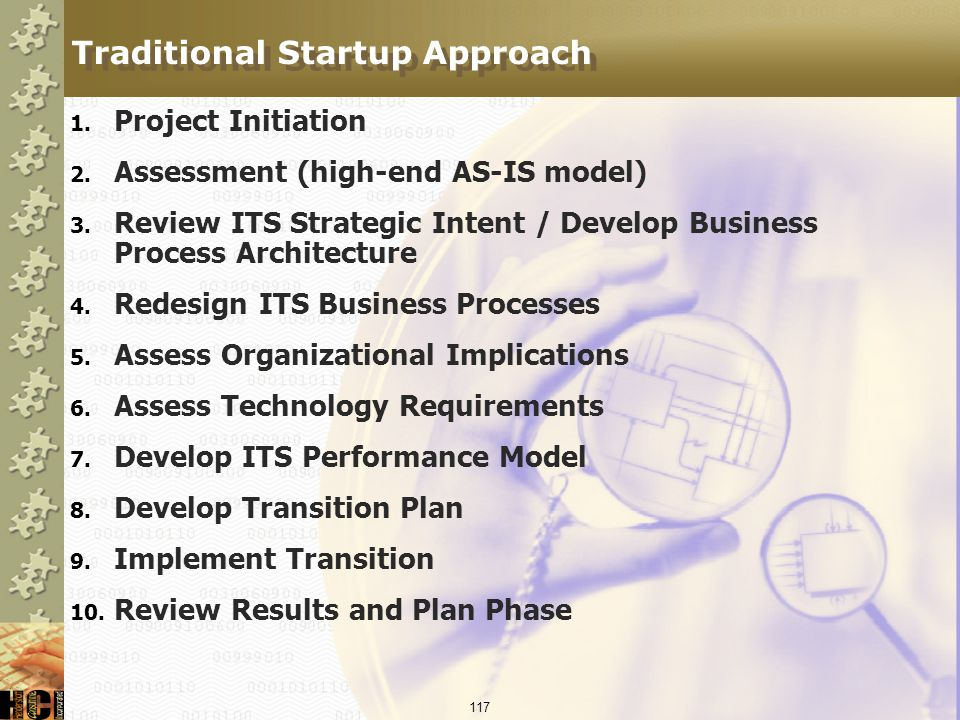 Traditional Startup Approach