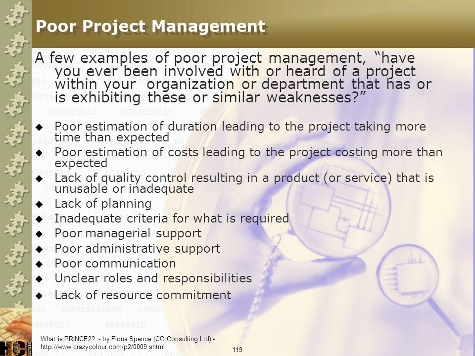 Poor Project Management