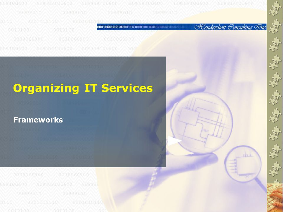 Organizing IT Services