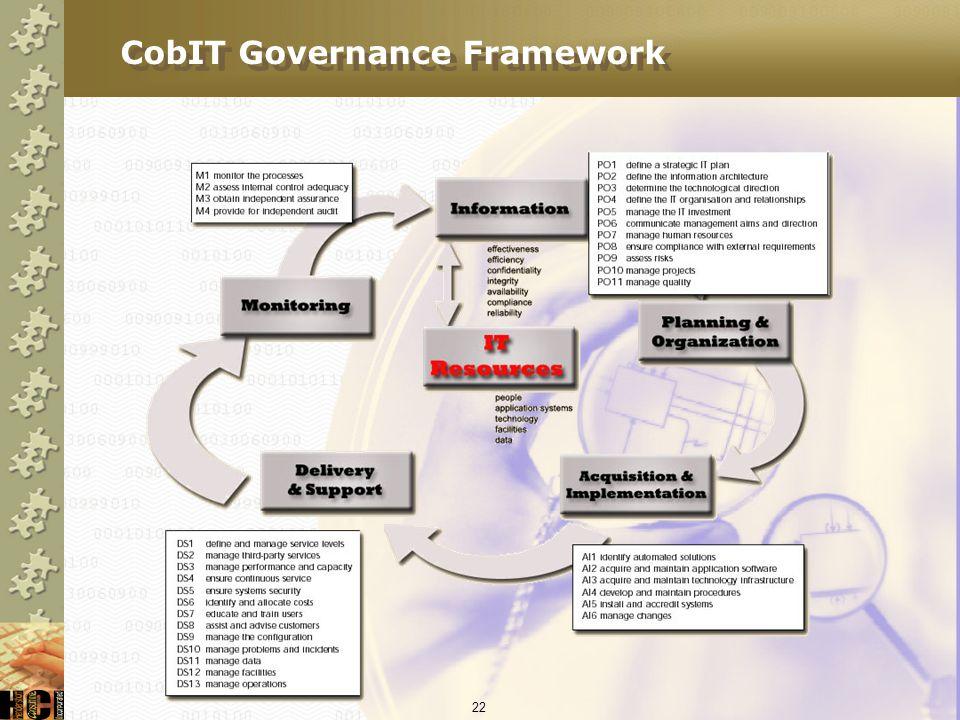 CobIT Governance Framework