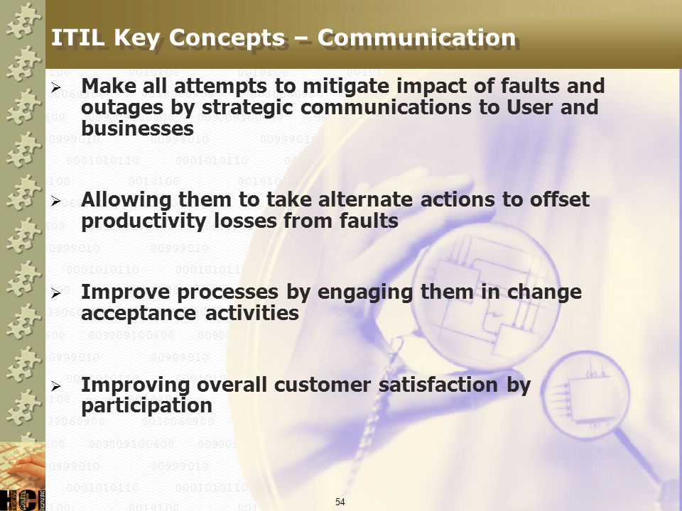 ITIL Key Concepts – Communication