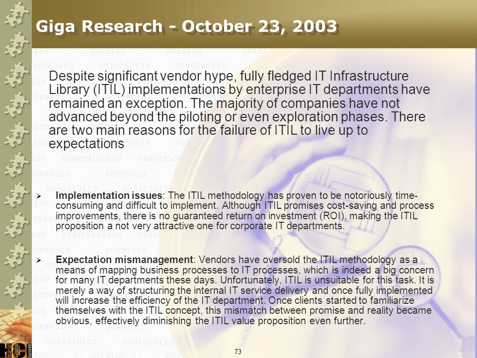Giga Research - October 23, 2003