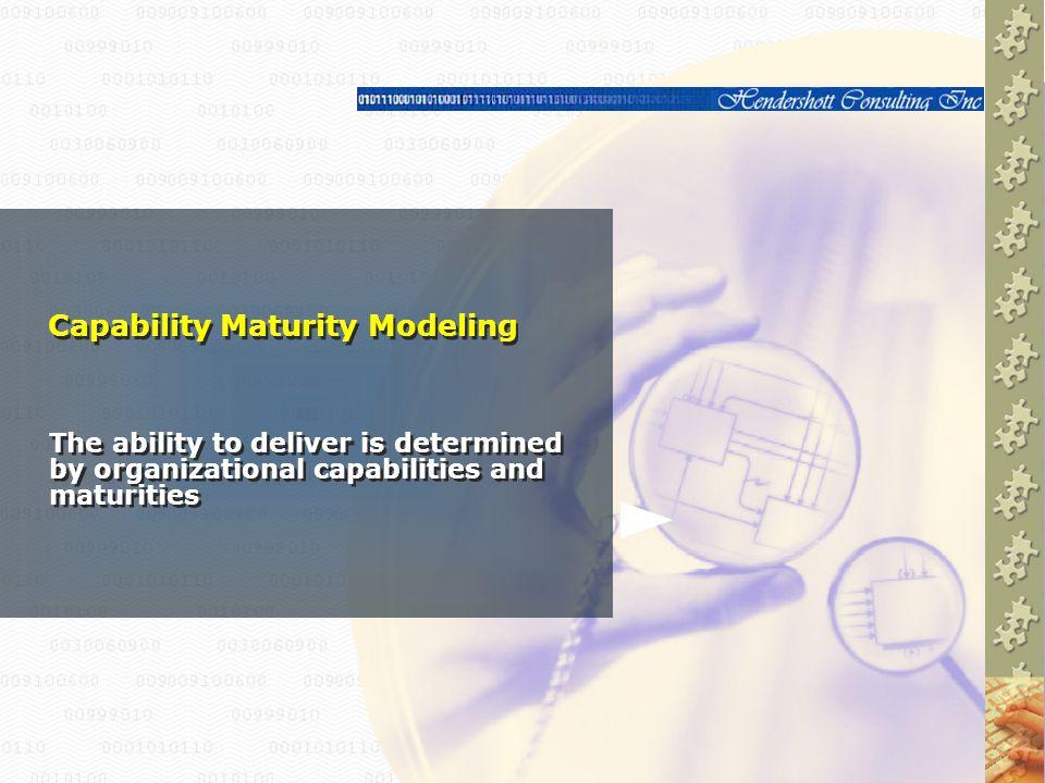 Capability Maturity Modeling