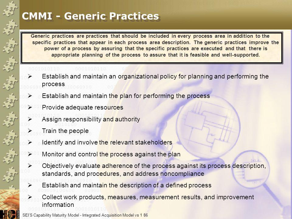 CMMI - Generic Practices