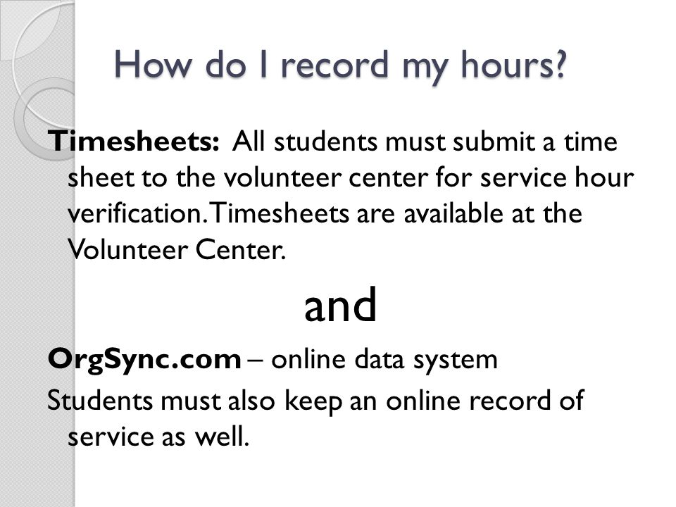and How do I record my hours
