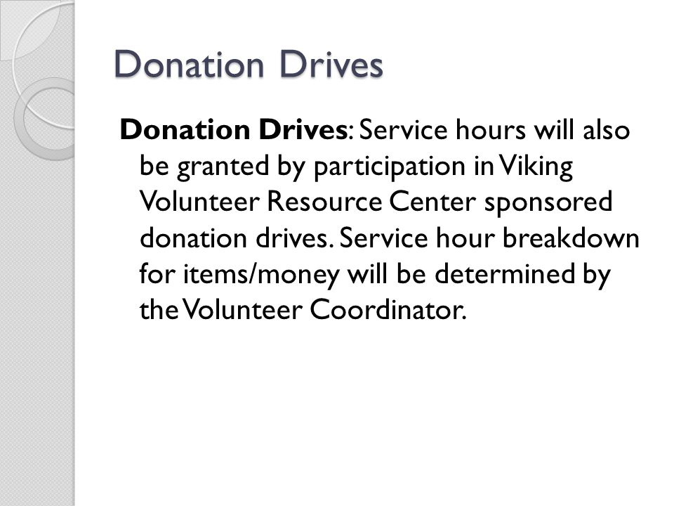 Donation Drives
