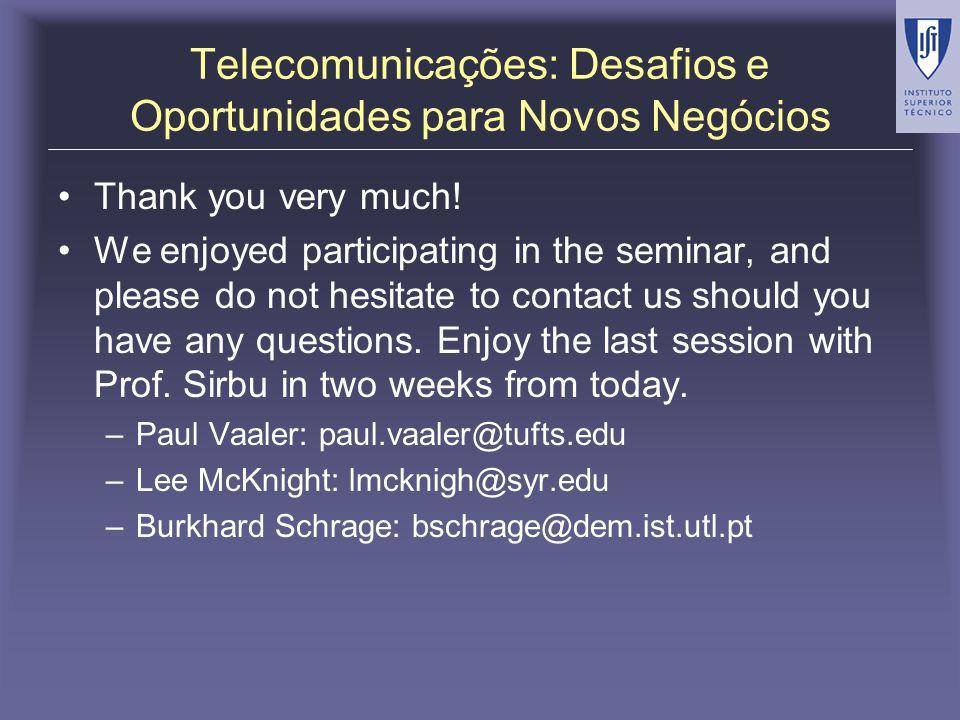 Telecomunicações: Desafios e Oportunidades para Novos Negócios