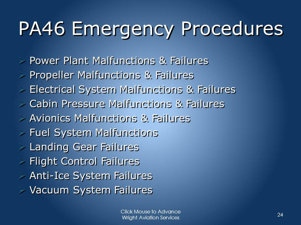 PA46 Emergency Procedures