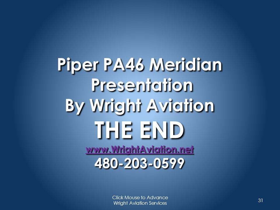 Click Mouse to Advance Wright Aviation Services