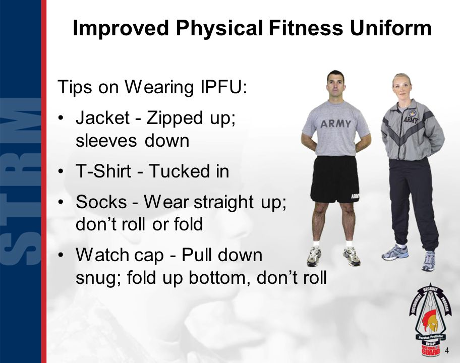Improved Physical Fitness Uniform