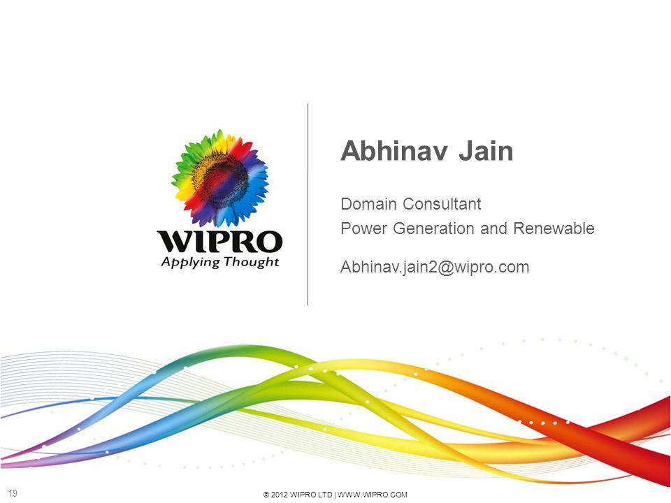 Abhinav Jain Domain Consultant Power Generation and Renewable