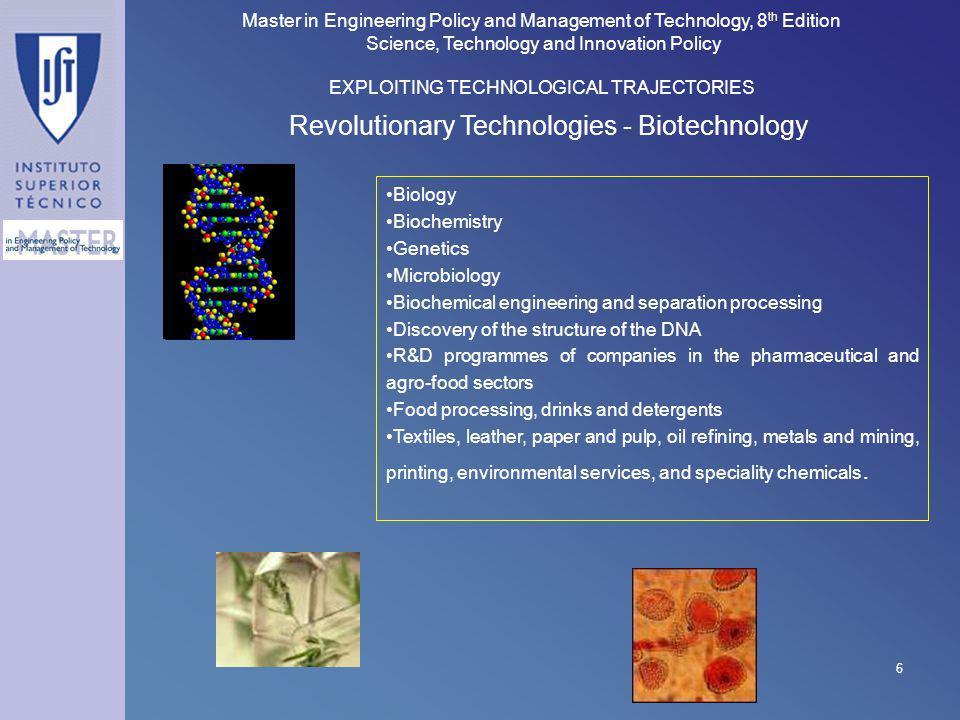 Revolutionary Technologies - Biotechnology