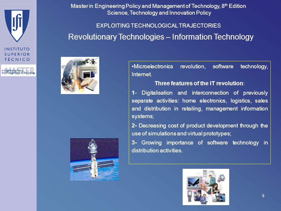 Revolutionary Technologies – Information Technology