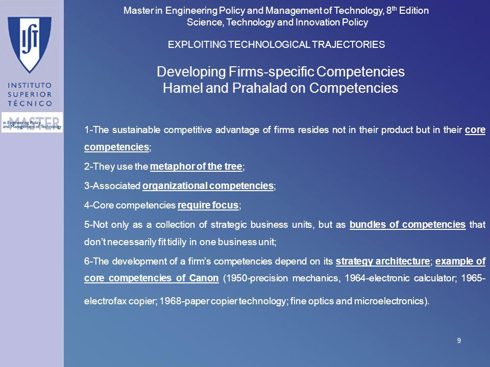 Developing Firms-specific Competencies