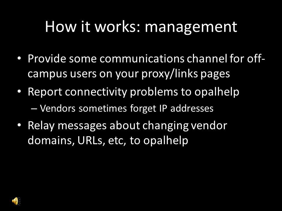 How it works: management