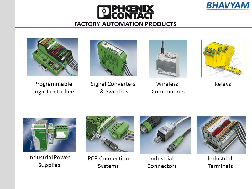 FACTORY AUTOMATION PRODUCTS