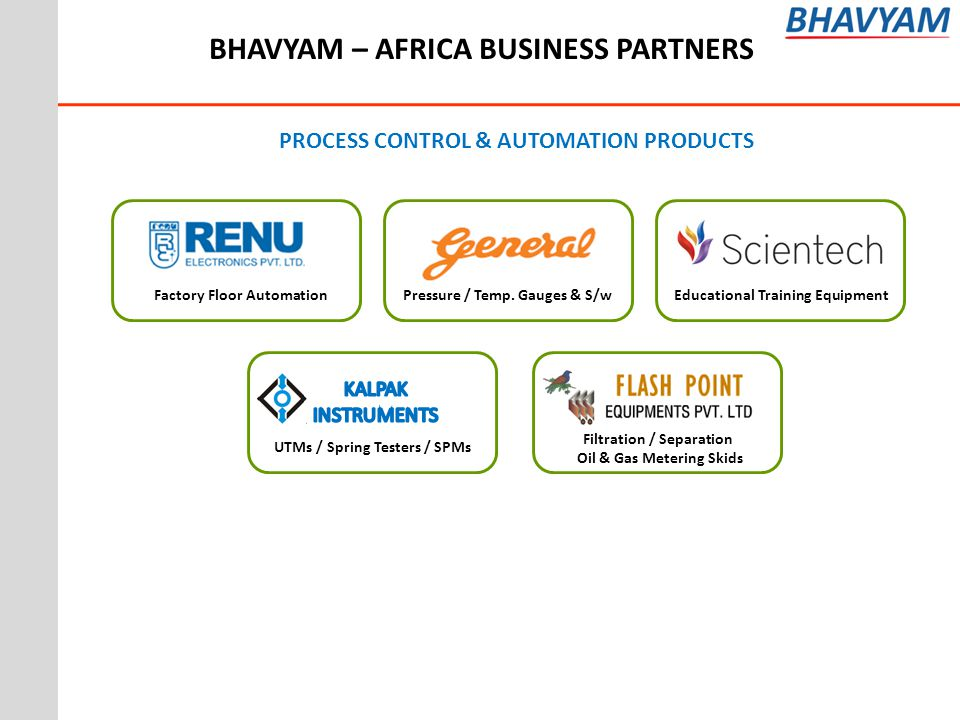 PROCESS CONTROL & AUTOMATION PRODUCTS