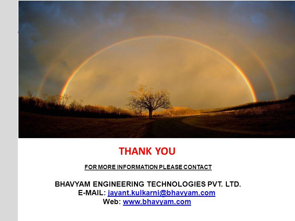 THANK YOU BHAVYAM ENGINEERING TECHNOLOGIES PVT. LTD.