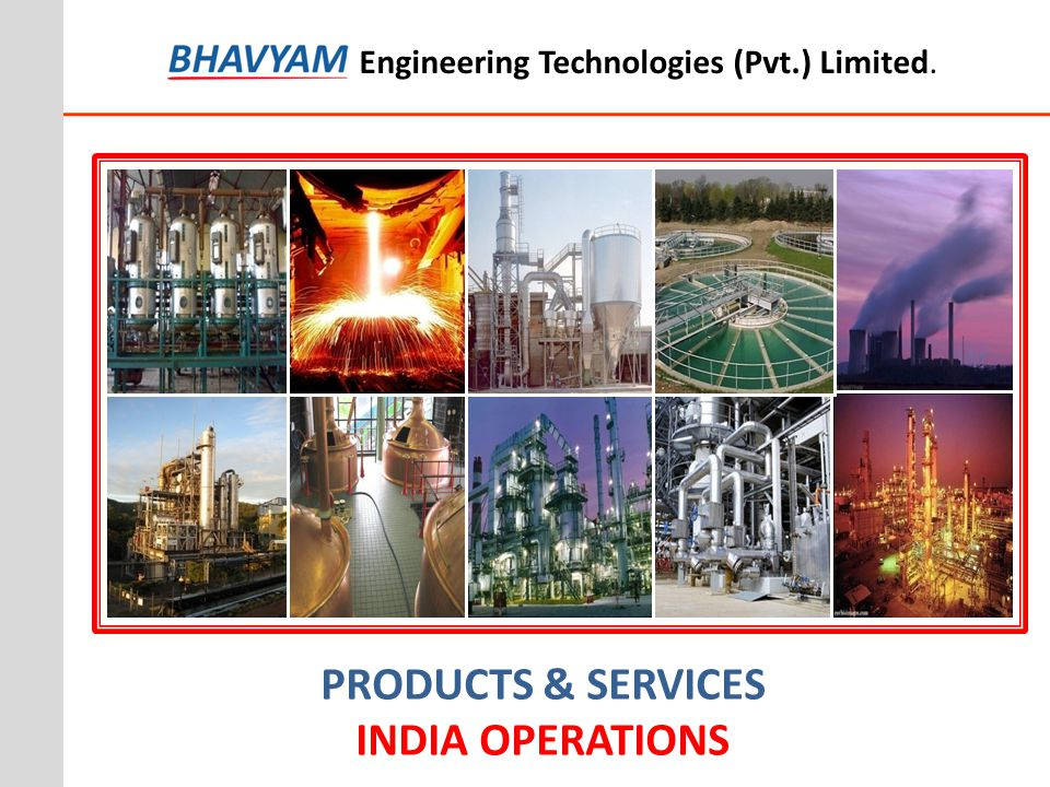 PRODUCTS & SERVICES INDIA OPERATIONS