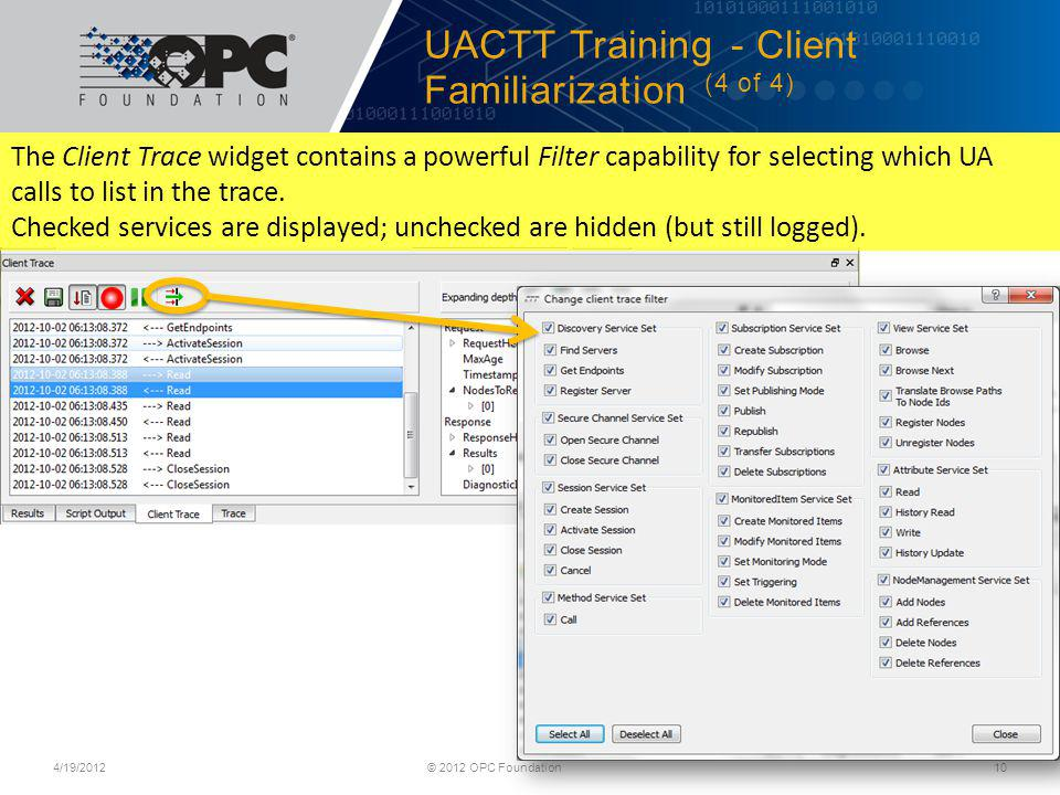 UACTT Training - Client Familiarization (4 of 4)