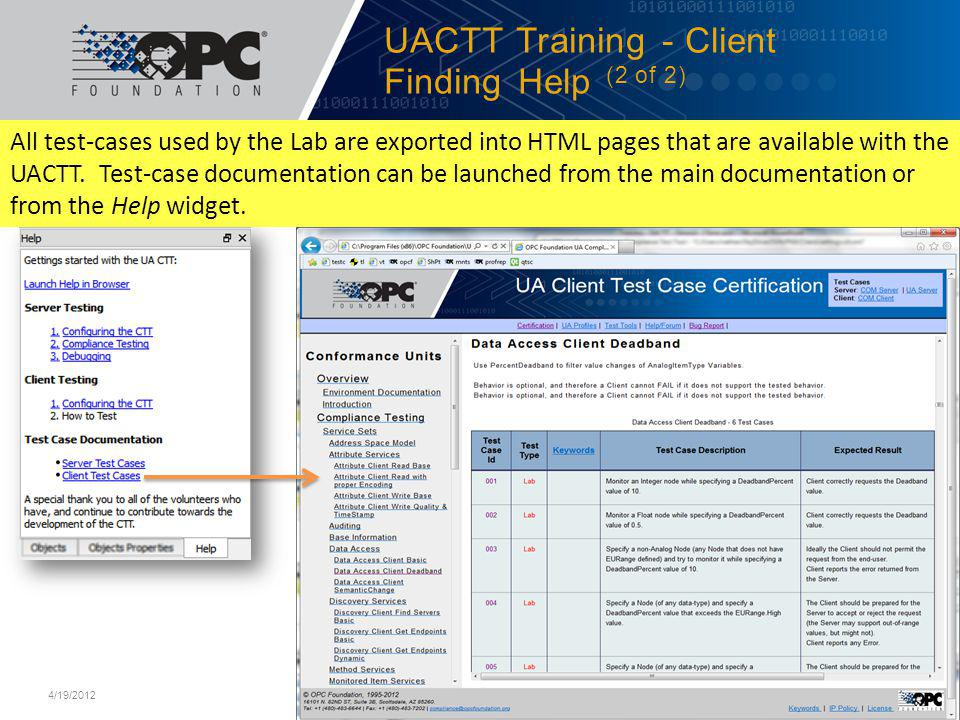 UACTT Training - Client Finding Help (2 of 2)