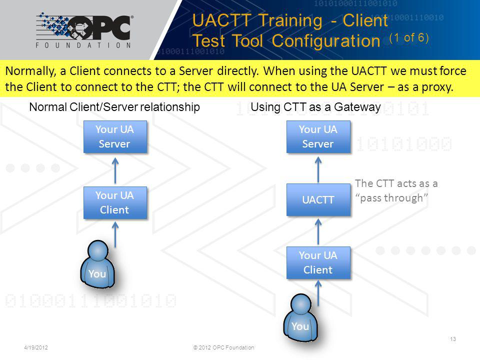 UACTT Training - Client Test Tool Configuration (1 of 6)